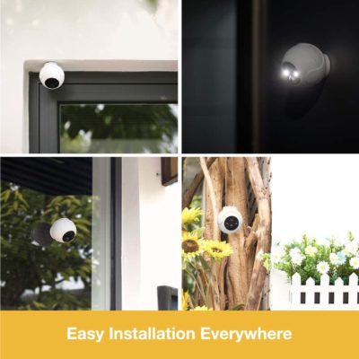 Wireless Security Camera with Spotlight, IP66 Waterproof, 1080P Rechargeable Battery Powered WiFi Camera, Indoor/Outdoor Security Camera, Color Night Vision, Motion Detection, 2-Way Audio, SD Storage