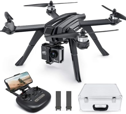Potensic D85 GPS Drone with 2K FPV Camera for Adult, 5G WiFi Live Video Brushless, RC Quadcopter with Case, 2 Batteries 40 Min, Auto Return Home, Follow Me, Selfie Drone for Adult Beginner Expert