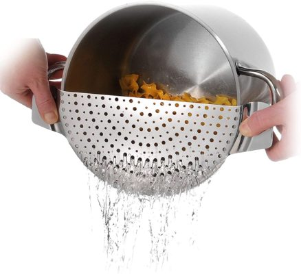 Westmark 16392260 Stainless Steel Pan Pot Strainer with Recessed Hand Grips Suitable for All Sizes Up to 10""