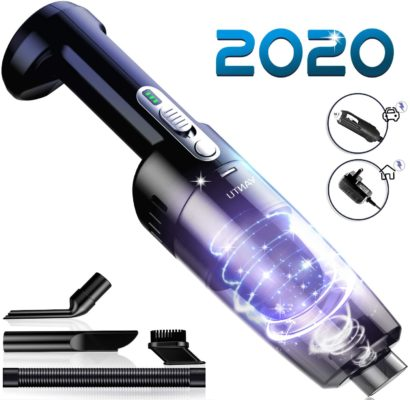 Cordless Vacuum,YANTU Handheld Vacuum, Car Vacuum Cleaner,7000PA Light Weight Portable Handheld Vacuum,Portable Vacuum with Car & Wall Rechargeable,Dust Buster, Carpets, Floors, 12V 100W