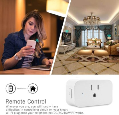 Xuntiy Smart Plug WiFi Outlet Plug in Switch, Smart Socket Compatible with Amazon Alexa and Google Home, Remote Controlled, Timer Controlled, ETL Listed, No Hub Required (2 Pack)