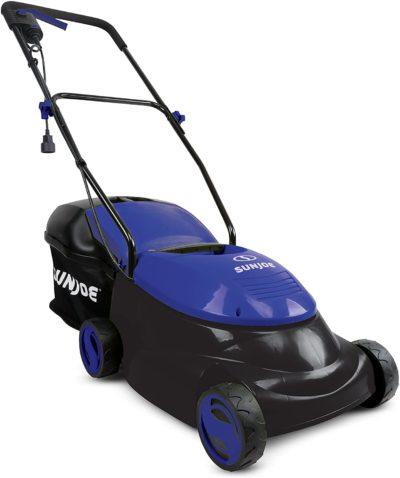"Sun Joe MJ401E-SJB Mow Joe 14"" 12 Amp Electric Lawn Mower with Grass Bag, Dark Blue"