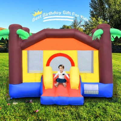 OTTARO Kids Bounce House , Outdoor Indoor Inflatable Bouncy House for Toddlers Jump Slide Castle Bouncer Durable Sewn Including Carrying Bag, Repair Kit, Stakes (Without Blower)