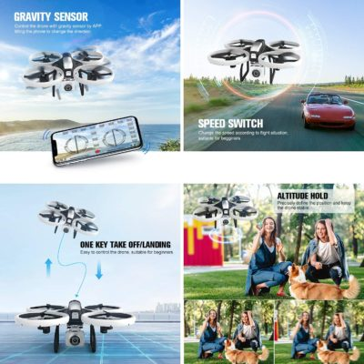 Drone with 4K Camera Live Video,EACHINE E020 WiFi FPV RC Drone for Adults and Beginners with 4K HD Wide Angle Camera 7.4V 1100Mah Long Flight time Large Selfie Photography Drone Quadcopter
