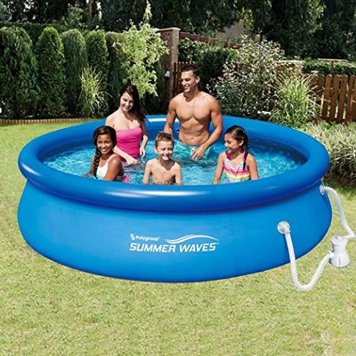Summer Waves 10ft x 30in Quick Set Inflatable Above Ground Pool with Filter Pump