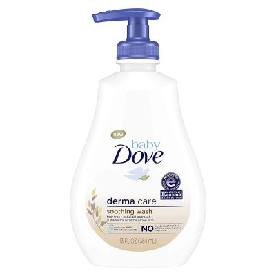 Dove Soothing Baby Body Wash Delicate Baby Skin Derma Care No Artificial Perfume or Color, Paraben Free, Phthalate Free 13 oz, 2 Count