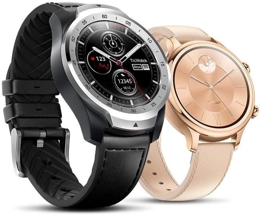 TicWatch Pro 2020 and TicWatch C2 Rose Gold Bundle- TicWatch Pro 2020 wear os by Google GPS NFC Waterproof smartwatch+TicWatch C2 Classic Design smartwatch