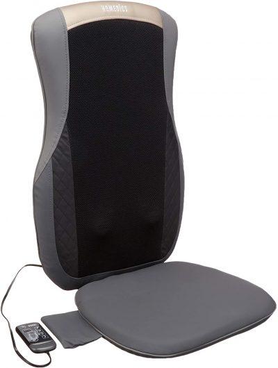 HoMedics Shiatsu Pro+ Massage Cushion - Cordless, Vibrating Massager with Heat & Programmed Controller
