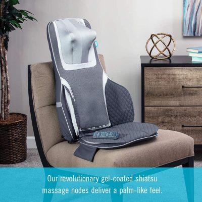 HoMedics Homedics Gentle Touch Gel Deluxe shiatsu Massage Cushion with Heat