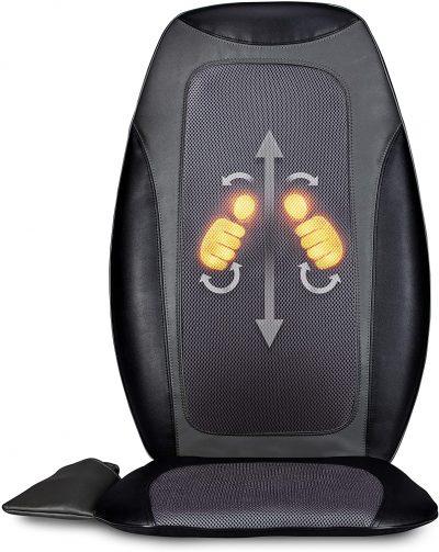 3-D Real Hands Shiatsu Back Massage Cushion, Multi-Zone with Heat and Vibration, Make Lemonade