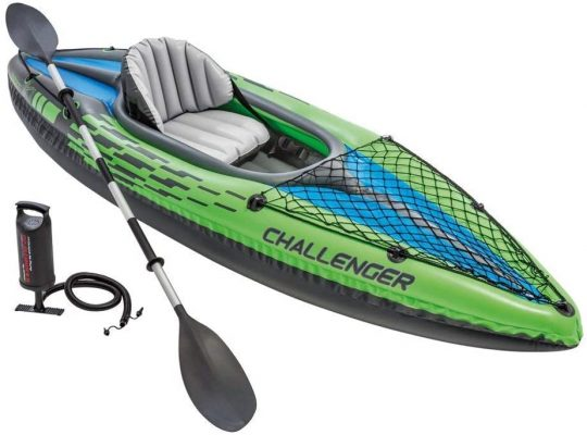 Challenger Kayak, 1-Person Inflatable Kayak with Oars & Air Pump