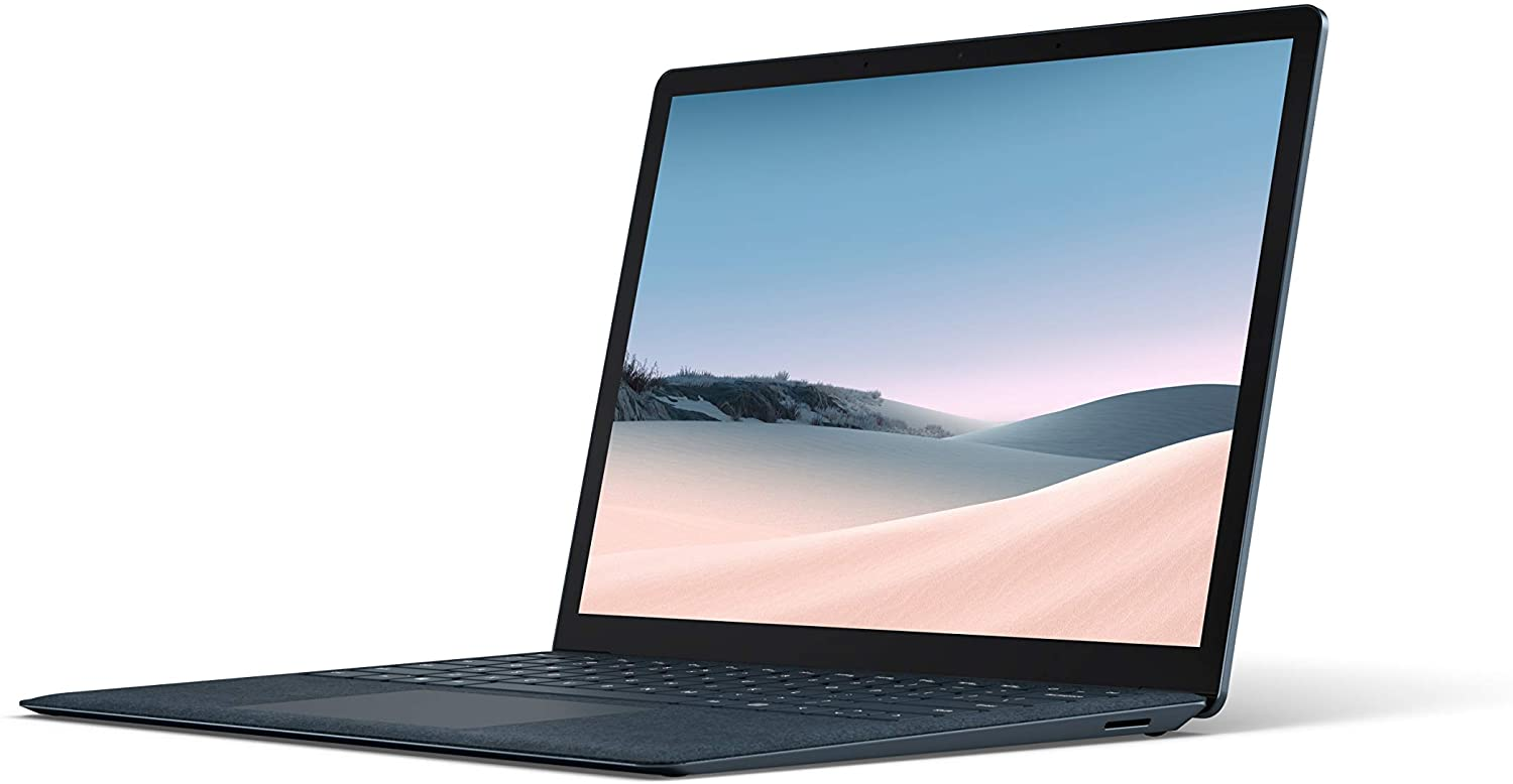 """Microsoft Surface Laptop 3 – 13.5"""" Touch-Screen – Intel Core i7 - 16GB Memory - 256GB Solid State Drive (Latest Model) – Cobalt Blue with Alcantara (VEF-00043)"""