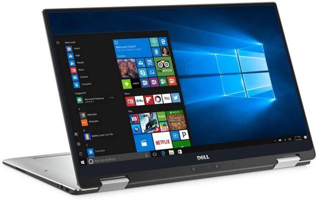 Dell XPS 13 9365 13.3in 2 in 1 Laptop FHD Touchscreen 7th Gen Intel Core i7-7Y75, 8GB RAM, 256GB SSD, Windows 10 Home (Renewed)