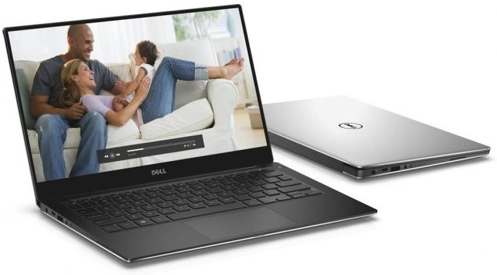 "Dell XPS 13 9360 13.3"" QHD+ Touch Laptop 8th Gen Intel Core i7-8550U 8GB RAM 256GB SSD Machined Aluminum Display Silver Win 10 Pro"