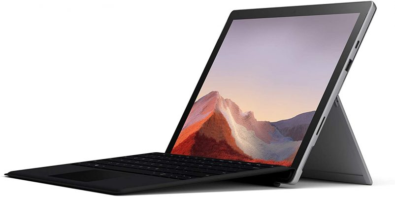 """Microsoft Surface Pro 7 – 12.3"""" Touch-Screen - 10th Gen Intel Core i5 - 8GB Memory - 128GB SSD (Latest Model) – Platinum with Black Type Cover"""