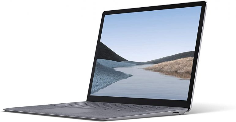 """Microsoft Surface Laptop 3 – 13.5"""" Touch-Screen – Intel Core i5 - 8GB Memory - 256GB Solid State Drive (Latest Model) – Platinum with Alcantara"""