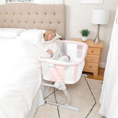 Baby Delight Beside Me Dreamer Bassinet & Bedside Sleeper | Peony Pink