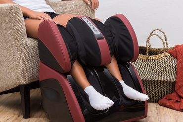 VITALZEN Plus® Massager for feet,Calves,Legs,Knees and Thighs – Red (2020 Model) - Compression-Air Massage-Rollers-Thermal-Heating-Kneading-Foot Reflexology - 2 Years Warranty