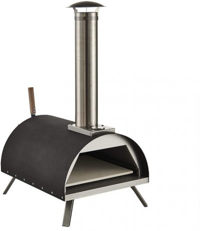 """GRILIFE 13"""" Outdoor Pizza Oven Wood fire Pizza Oven Portable Pizza Oven Pizza Maker for Home Garden Balcony Black"""