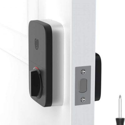 ULTRALOQ U-Bolt Pro Smart Lock + Bridge WiFi Adaptor, 6-in-1 Keyless Entry Door Lock with WiFi, Bluetooth, Biometric Fingerprint and Keypad, Smart Door Lock Front Door, Deadbolt Lock Edition