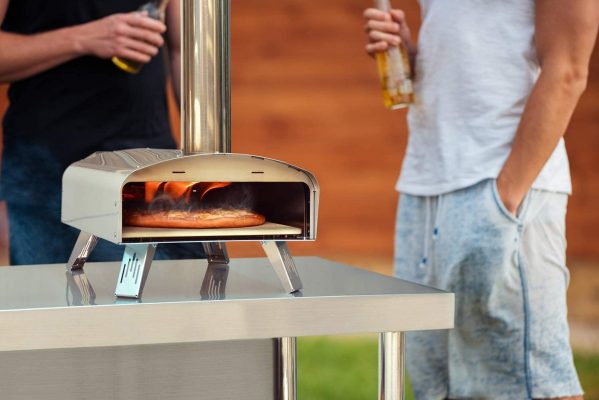 """only fire Mimiuo Portable Wood Pellet Pizza Oven with 13"""" Pizza Stone & Foldable Pizza Peel - Stainless Steel Wood-Fired Pizza Oven for Outdoor Cooking (Classic W-Oven Series)"""