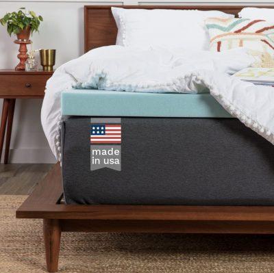 ViscoSoft Memory Foam Mattress Topper Twin XL - Extra Long - Made in USA 2 Inch Reflex Gel Mattress Pad
