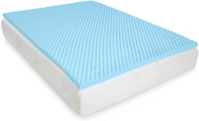 Milliard 2in. Egg Crate Gel Memory Foam Mattress Topper - King, Mattress Pad Provides Great Pressure Relief, Gel Infusion Contributes to a Cooler Night Sleep (King)